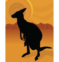 Kangaroo outback vector