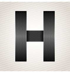 Letter metal ribbon - H vector image vector image