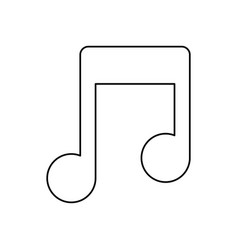 Line music symbol icon design vector