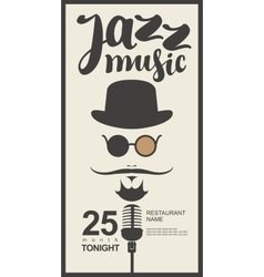 Man face with inscription jazz music vector