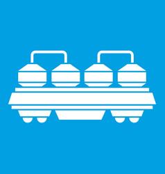 Rail wagon for cement icon white vector