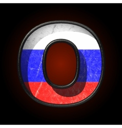 Russian metal figure o vector