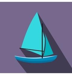 Ship yachts flat icon vector