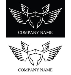 Sparta warrior wing logo vector