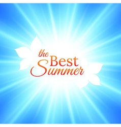 Summer Background with Bright Sun in the Sky vector image vector image