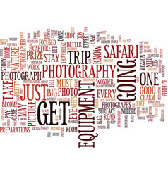 The photography safari text background word cloud vector