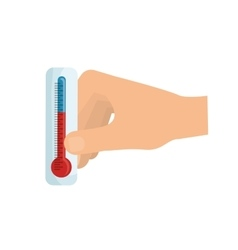 Thermometer temperature scale vector image vector image