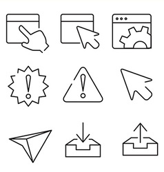 web interface icons vector image