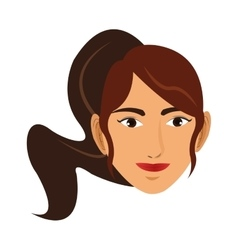 Woman wearing sportswear and ponytail icon vector