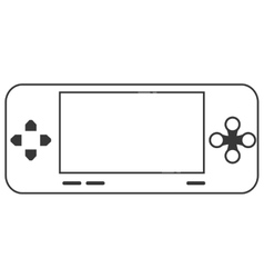 Mobile video game console icon vector