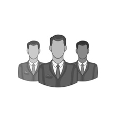 Avatars men icon black monochrome style vector