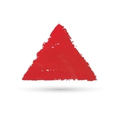 A triangular figure drawn with paint watercolor vector