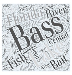 Central florida bass fishing word cloud concept vector