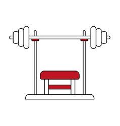 Press bench vector