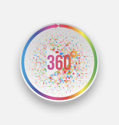 Colorful 360 degrees play button with arrow vector