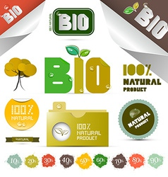 Natural product labels - tags - stickers set vector