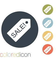 Sale label vector