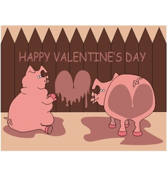 Love pig vector