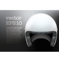 White motorcycle helmet vector