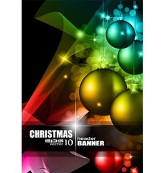 Modern christmas card vector