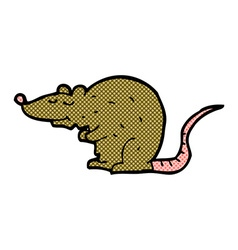 Comic cartoon rat vector
