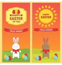 Easter banner templates vector