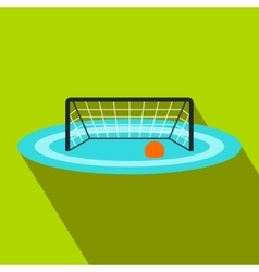 Water polo gates flat icon vector