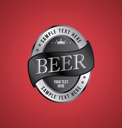 Beer label theme vector