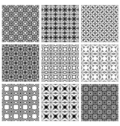 Monochrome backgrounds collection vector