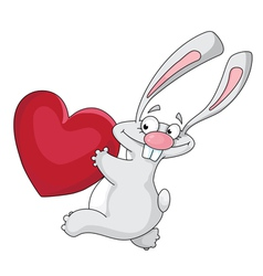 Rabbit and heart vector