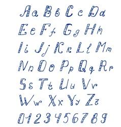 alphabet ink2 vector image vector image