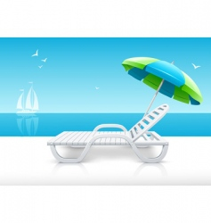 beach chair vector image