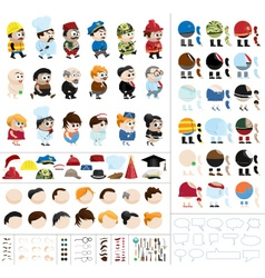 character creation kit vector image vector image