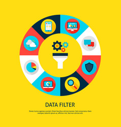 data filter concept vector image