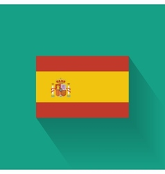 Flat flag of Spain vector image vector image