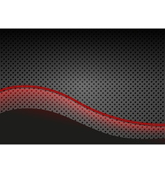 Glowing Red Line over Dotted Metallic Background vector image