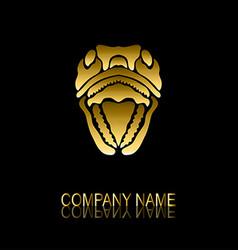 golden snake symbol vector image vector image