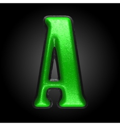 Green plastic figure a vector