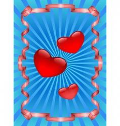 heart and ribbon vector image vector image