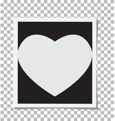 heart photo frame insert your photo vector image vector image