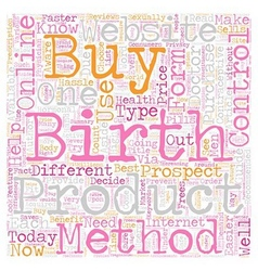How to buy birth control online text background vector