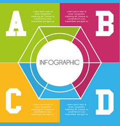 Infographics template business and information vector