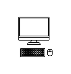 Isolated computer technology vector