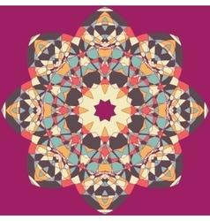 Mandala Round Ornament Pattern Vintage vector image