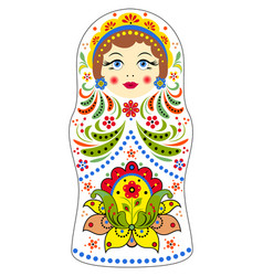 Matryoshka on white background vector