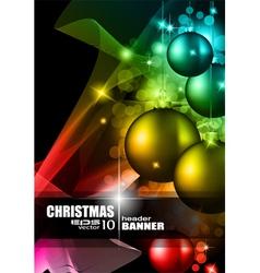 Modern christmas card vector