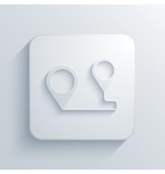 Modern map pointer light icon vector