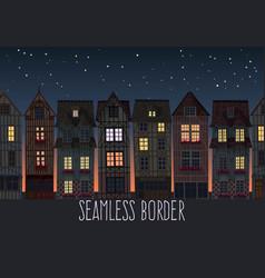 Old town seamless border vector