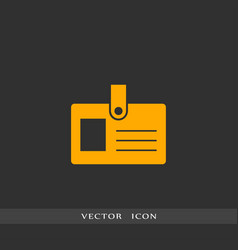pass icon simple vector image