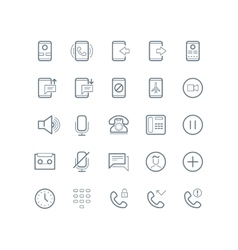 Phone devices and communication line icons vector